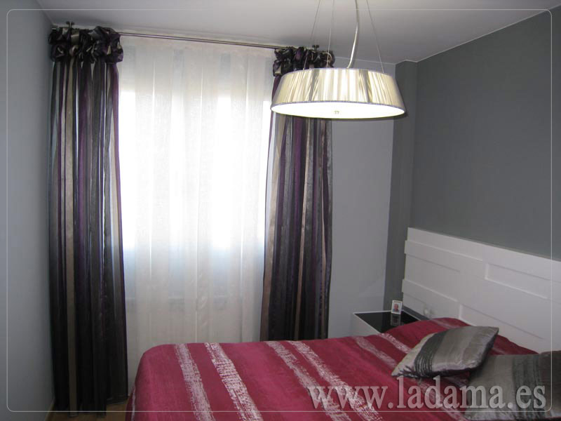 Dormitorios modernos cortinas en zaragoza la dama for Decoracion cortinas