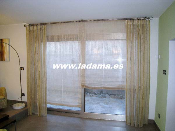 Cortinas dobles decoraci n for Doble cortina para salon